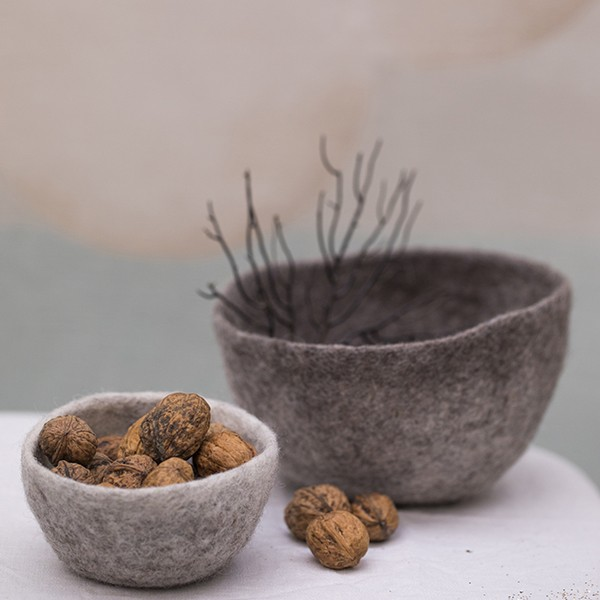 Muskhane Bicolour Bowl Light Stone/Stormy Grey