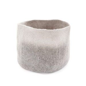 Muskhane Bicolour Calabash Storage Basket Light Stone/Natural