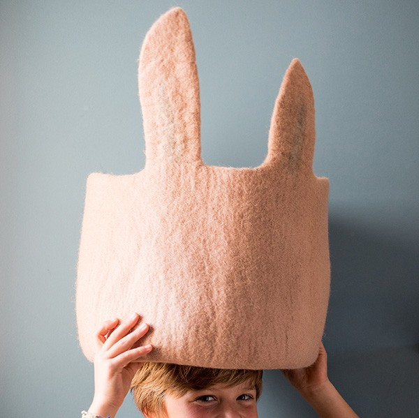 Muskhane Calabash Storage Basket Pasu Bunny Quartz Pink