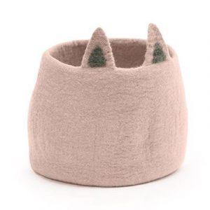 Muskhane Calabash Storage Basket Pasu Foxy Quartz Pink