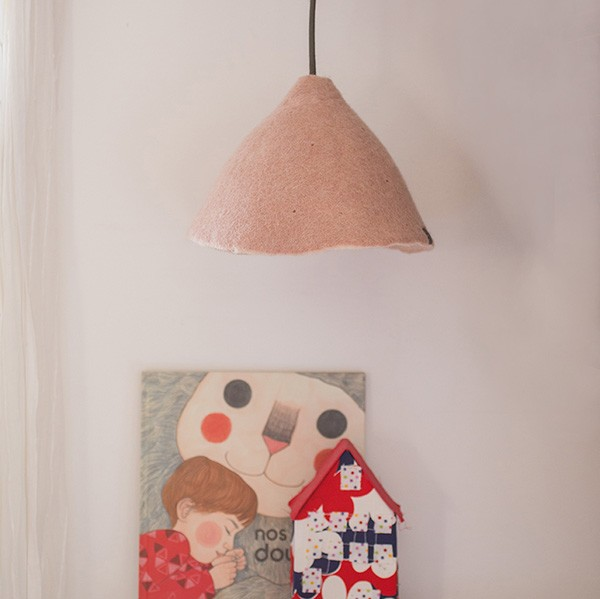 Muskhane Lampshade Small Quartz Pink/Natural