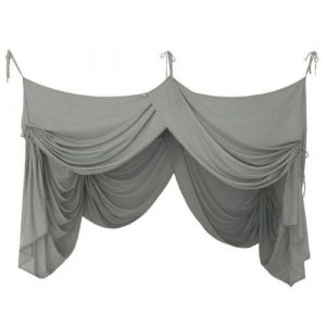 Numero 74 Bed Drape Single Silver Grey