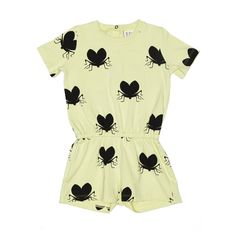 Beau Loves Shorts Playsuit Love Bugs Yellow