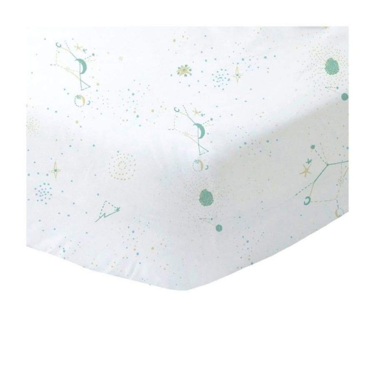 Blabla Fitted Cot Sheet Galaxy Teal