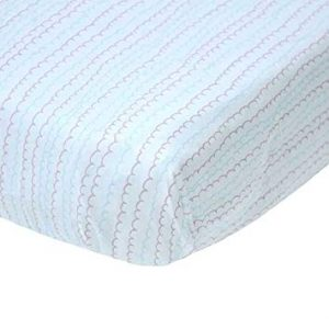 Blabla Fitted Cot Sheet Ruffle Blue