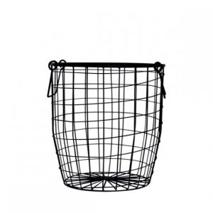 Down To The Woods Wire Basket Black Medium