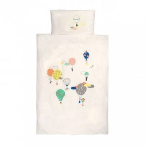 Mimi'lou Hot Air Balloon Cot Cover Set