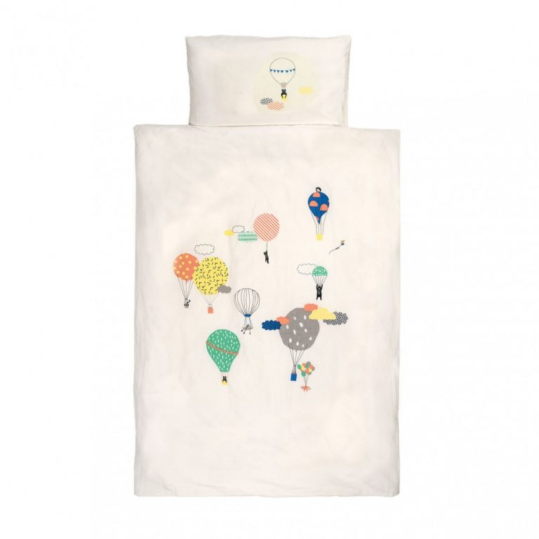 Mimi'lou Hot Air Balloon Cot Cover Set