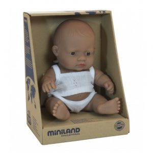 Miniland Anatomically Correct Baby Doll Latin American Girl 21cm