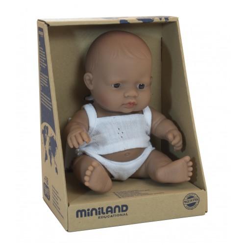 Miniland Anatomically Correct Baby Doll Latin American Girl 21cm