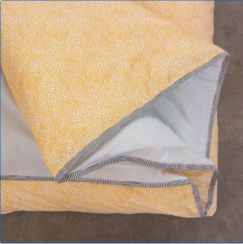 Fictional Objects Doona Cover Yellow Weave Single
