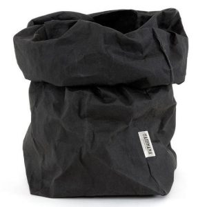Uashmama Paper Bag Black Extra Large