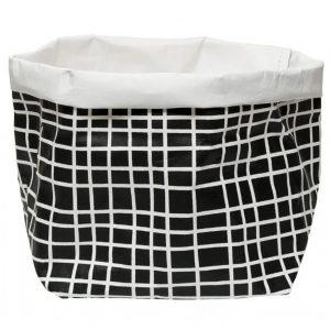 Wash Paper Bag Black/White Grid