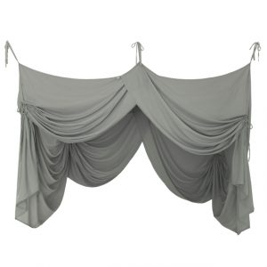 Numero 74 Bed Drape Double Silver Grey