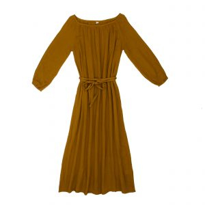 Numero 74 Nina Dress Long Mum Gold