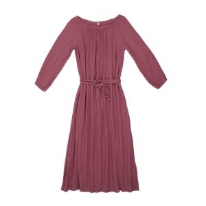 Numero 74 Nina Dress Long Mum Baobab Rose