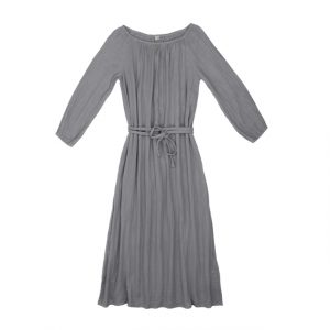 Numero 74 Nina Dress Long Mum Stone Grey