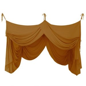 Numero 74 Bed Drape Single Gold