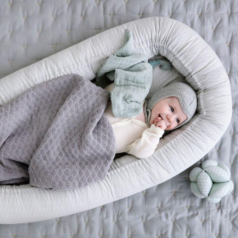 Cam Cam Copenhagen Baby Nest Grey Wave