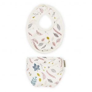 Cam Cam Copenhagen Doll's Bib & Nappy Pressed Leaves Rose