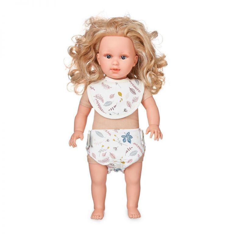 Cam Cam Copenhagen Doll's Bib & Nappy Pressed Leaves Rose