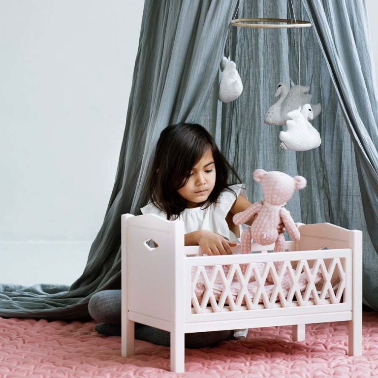 Cam Cam Copenhagen Harlequin Doll's Bed Blossom Pink