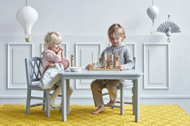 Cam Cam Copenhagen Harlequin Kids Table Grey
