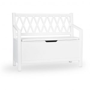 Cam Cam Copenhagen Harlequin Kids Storage Bench White