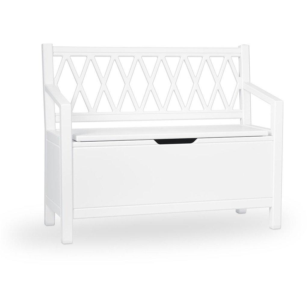 Excellent Cam Cam Copenhagen Harlequin Kids Storage Bench White Dailytribune Chair Design For Home Dailytribuneorg