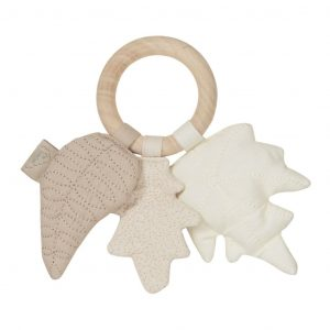 Cam Cam Copenhagen Leaves Rattle Mix Natural