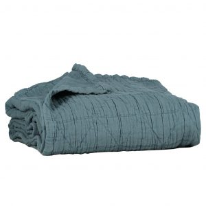 Camomile London Diamond Blanket Air Force Blue