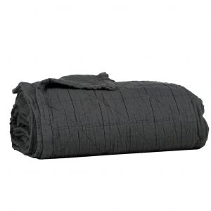 Camomile London Diamond Blanket Charcoal