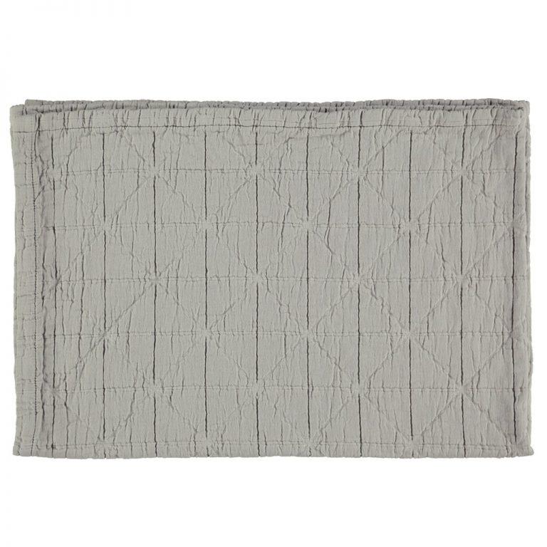 Camomile London Diamond Blanket Light Grey