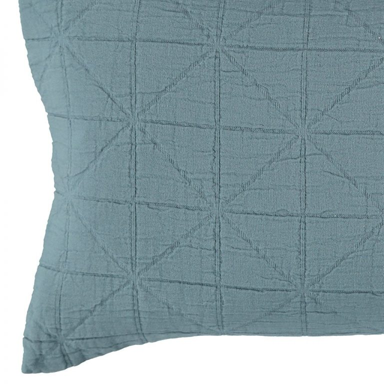Camomile London Diamond Cushion Cover Air Force Blue Small