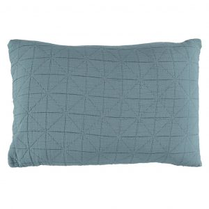 Camomile London Diamond Pillow Case Air Force Blue