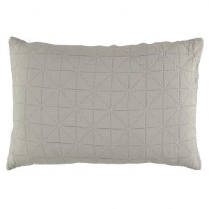 Camomile London Diamond Pillow Case Light Grey