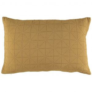 Camomile London Diamond Pillow Case Ochre
