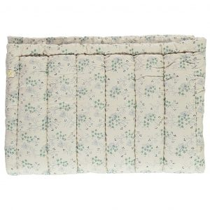 Camomile London Hand Quilted Blanket Minako Floral Cornflower
