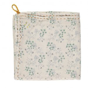 Camomile London Swaddle Blanket Single Layer Minako Cornflower/Stone