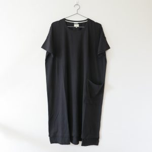 Kin Womens Square Tee Dress Black