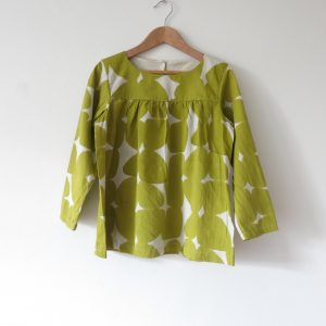 Kin Gathered Front Shirt Dust/Mustard Petal