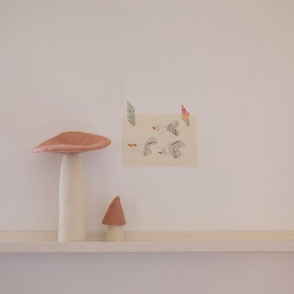 Muskhane Felt Wool Morel Mushroom Quartz Pink