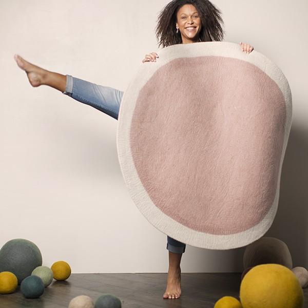 Muskhane Lumbini Rug Natural/Quartz Pink