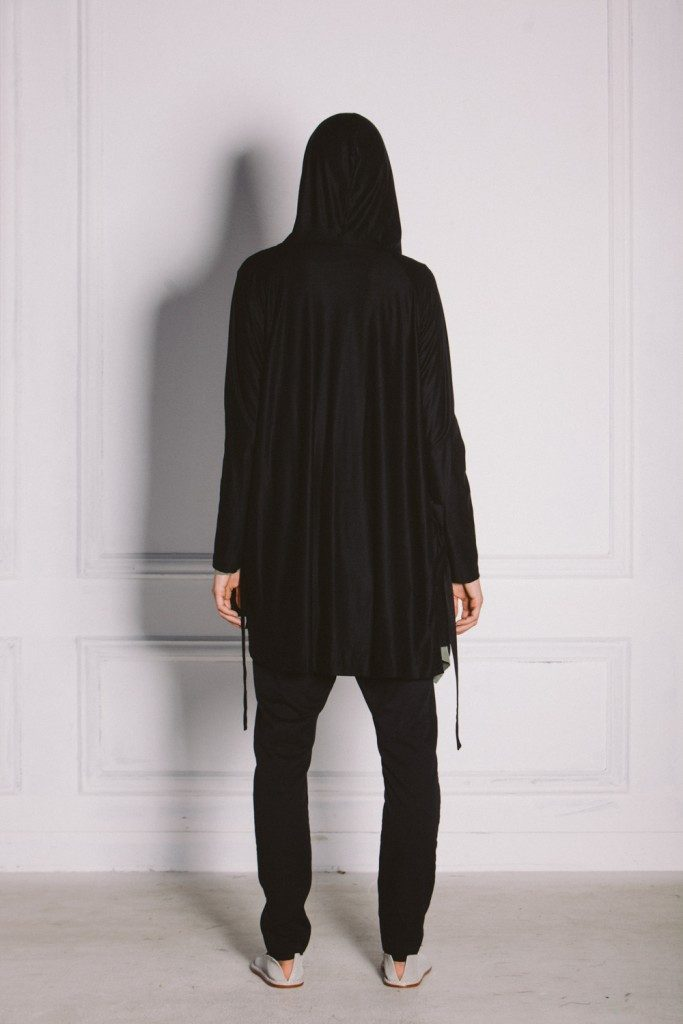 Kin Womens Hooded Cardigan Black