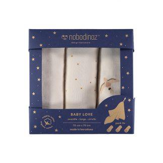 Nobodinoz Box 3U Baby Love Swaddles Pack Haiku
