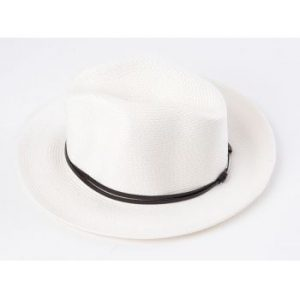 Travaux En Cours Borsalino Hat White