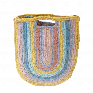 Bloomingville Rainbow Jute Bag