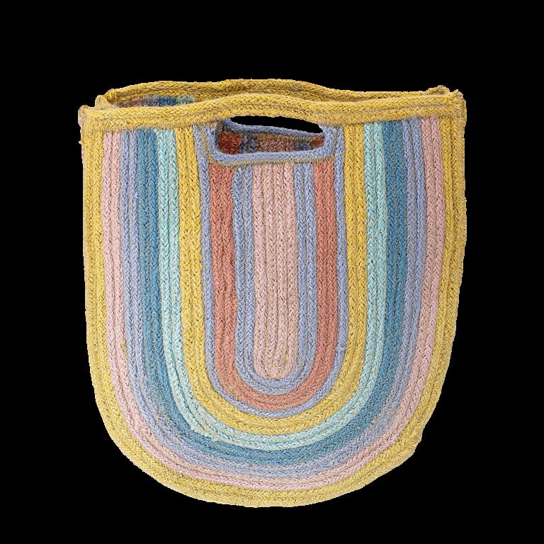 Bloomingville Rainbow Jute Bag