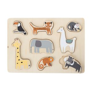 Bloomingville Wooden First Puzzle Jungle Animals