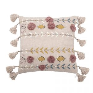 Bloomingville Cotton Cushion Rose